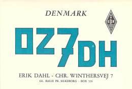 Amateur Radio QSL Card - OZ7DH - Winthersvej, Denmark - 1968 - 2 Scans - Radio Amateur