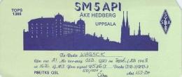 Amateur Radio QSL Card -  SM5API - Uppsala, Sweden - 1968 - 2 Scans - Radio Amateur