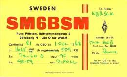 Amateur Radio QSL Card - SM6BSM - Sweden - 1968 - Radio Amateur