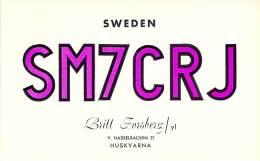 Amateur Radio QSL Card - SM7CRJ - Sweden - 1969 - 2 Scans - Radio Amateur