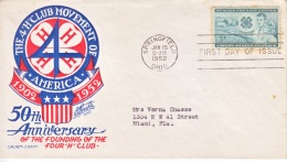 US 1005   FDC  4 H  CLUB - Agriculture