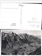 502669,Ausblick Von D. Garichte B. Schwanden Bergkulisse Kt Glarus - GL Glarus