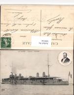 504154,Le Havre Cuirasse Gloire Kriegsschiff Schiff Dampfer Poincare Portrait - Krieg