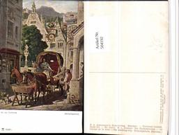 504192,Künstler AK M. V. Schwind Hochzeitsreise Kutsche Pub Ackermann 2166b - Taxi & Carrozzelle