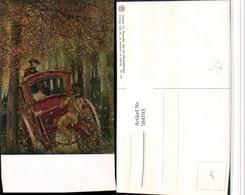 504193,Künstler AK Gaston La Touche Hochzeitsreise Kutsche - Taxi & Carrozzelle