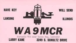 Amateur Radio QSL Card - WA9MCRVO2 - Goose Bay, Labrador - 1967 - 2 Scans - Radio Amateur