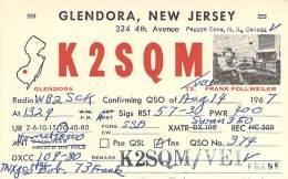 Amateur Radio QSL Card - K2SQM/VE1 - Nova Scotia CANADA - 1967 - 2 Scans - STAMPED - Radio Amateur