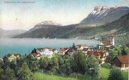 BECKENRIED → Sehr Schöne Aufnahme Der Dorfpartie Bei Der Kirche 1914 - NW Nidwalden