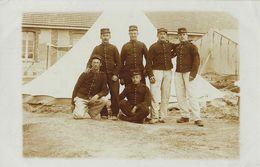 Groupe De Militaires à Identifier - Camp De Mailly 1909 - Signé Noël Maxime - Te Identificeren