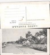 511224,Madagascar Madagaskar Tamatave La Plage Strand Palmen - Ansichtskarten