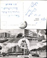 511263,Sambia Lusaka Straßenansichten Oldtimer Statue Mehrbildkarte - Ansichtskarten
