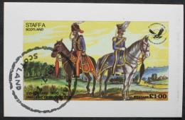 1976 ROYAUME-UNI United Kingdom STAFFA Scotland Cheval équitation Riding Horse Reiten Pferd Equitación Caballos [AN95] - Militaria