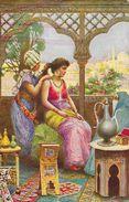 Egypte - Illustration: Femme à Sa Toilette - The Cairo Postcard Trust - Serie Hashashin N°651 - Carte Non Circulée - Egypt