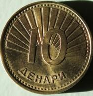 VF MOEDA DA MACEDONIA 10 DINAR 2008 UNC - Macedonia