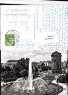 513967,Mannheim Friedrichsplatz Brunnen Wasserturm - Châteaux D'eau & éoliennes
