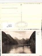 514383,Königssee B. Schönau Zille Boot Bergkulisse - Barche
