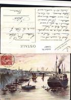 514467,Künstler AK Aiguebelle Saigon Hochseeschiff Schiff Boote - Handel