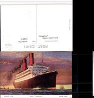 514475,Künstler AK Cunard Line R.M.S. Carmania Hochseeschiff Schiff - Handel