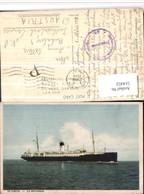 514452,S/S Suecia S/S Britannia Hochseeschiff Schiff Stempel Ö Zensur S.Z. - Handel