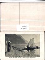 514408,Künstler AK Hans Dahl Hinter Dem Segel Segelboot Boot - Voiliers