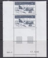 TAAF 1982 Traineau A Chiens 1v (pair, Printing Date) ** Mnh (TA127B) - Luchtpost