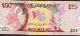 GUYANA P41 50 DOLLARS 2016 COMMEMORATIVE    X 10 PCS      UNC. - Guyana