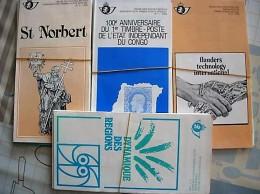 60 POSTBLAADJES MET FDC STEMPEL PERIODE 1985/88 - Poststempel
