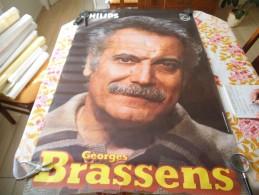 GEORGES BRASSENS PHILIPP AFFICHE 117cm/77cm - Manifesti & Poster
