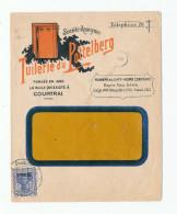 913/23 - Lettre Illustrée TP Germania Etapes P.U.St 33 En 1917 - TB Entete Couleur COURTRAI Tuilerie Du Pottelberg - [OC26/37] Etappengeb.