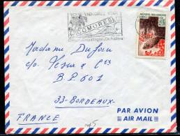 COMORES - N°38 / LETTRE AVION , OM MORONI R.P.  - TB - Comores (1950-1975)