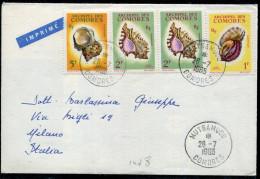 COMORES - N°20 + 21 (2) + 22 / IMPRIMÉ DE MUTSAMUDU LE 26/7/1965, POUR L'ITALIE - TB - Comores (1950-1975)