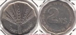 Uruguay 2 Nuevos Pesos 1981 (F.A.O.) KM#77 - Used - Uruguay