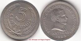 Uruguay 5 Centésimos 1953 KM#34 - Used - Uruguay