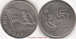 Uruguay 5 Nuevos Pesos 1980  KM#75 - Used - Uruguay