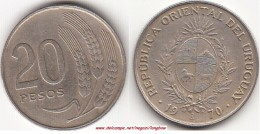 Uruguay 20 Pesos 1970 Km#56 - Used - Uruguay
