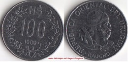 Uruguay 100 Nuevos Pesos 1989 KM#96 - Used - Uruguay