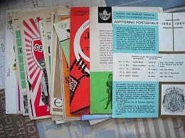 86 POSTBLAADJES MET FDC STEMPELS PERIODE 1960/80 (1979/80 INGEBONDEN) - Poststempel