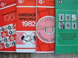 70 POSTBLAADJES MET FDC STEMPELS PERIODE 1981/84 - Poststempel
