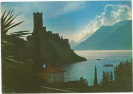 R1398 Lago Di Garda - Malcesine (Verona) - Il Castello Al Tramonto - Sunset Coucher / Viaggiata 1984 - Italia