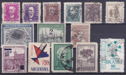 Lot Brasil Colombia Argentina  (see Scan) (Mix88) - Timbres