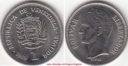 VENEZUELA 1 BOLIVAR 1989 KM#52a1 - Used - Venezuela