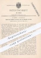 Original Patent - W. Küsel In Stassfurt , 1882 ,  Trocknen Von Körpern Und Absorption Von Gasen , Gas , Gase !!! - Historische Dokumente