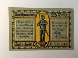 Allemagne Notgeld Nordhausen 25 Pfennig 1921 NEUF - [ 3] 1918-1933 : République De Weimar