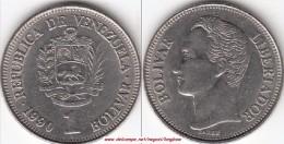VENEZUELA 1 BOLIVAR 1990 KM#52a.2 - Used - Venezuela