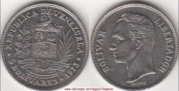 VENEZUELA 5 BOLIVARES 1973 KM#44 - Used - Venezuela