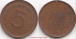 VENEZUELA 5 Céntimos 1976 (Puya) KM#49 - Used - Venezuela