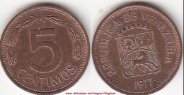 VENEZUELA 5 Céntimos 1977 (Puya) KM#49 - Used - Venezuela