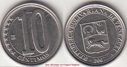 VENEZUELA 10 CENTIMOS 2007 KM#89 - Used - Venezuela