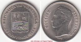 VENEZUELA 25 CENTIMOS 1965 KM#40 - Used - Venezuela