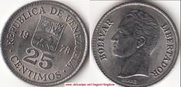 VENEZUELA 25 CENTIMOS 1978 KM#50.2 - Used - Venezuela